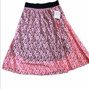 NWT LULAROE Lace Lola Skirt
